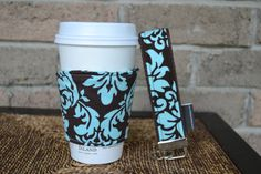 coffee cozy/key fob set. Great for teacher gifts, that hard to buy for person.