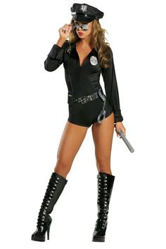 7PC Lady Cop Sexy Costume
