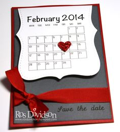 save the date card idea from clever Ros Davidson :)
