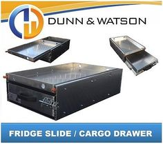 125 KG Fridge Slide By DUNN & WATSON. They make quality #4WD #storage #solutions. Highly Recommend.