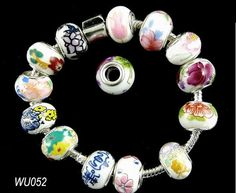 BULK SALE  20 PCS  Mixed 925 Silver Plated Porcelain by ministore, $4.87