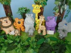 Espaço Infantil – Moldes de Bichinhos para Festa Safari
