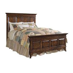 Vintage Walnut King Bed