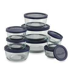 Pyrex® 18-Piece Kitchen Storage Set- I love these. I can freeze, thaw & reheat in same container...no staining. Great for left overs-storing and reheat in same container.