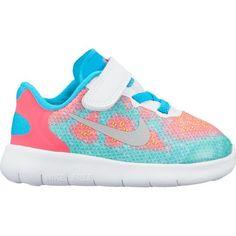 ea7549792fa7 Nike Toddler Girls  Free Run 2 TDV Running Shoes (White Metallic  Silver Chlorine Blue