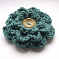 Free Crochet Flower Pattern-to use as an embellishment..