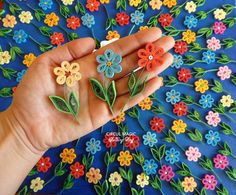 Colorful Paper Quilling Flowers - Spring Holidays - Martisoare - See more at Circul Magic: www.circulmagic.blogspot.com