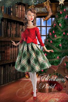 Gwendolyn's Treasures--Christmas Plaid WM | Flickr - Photo Sharing!  This would make a great Skipper outfit, too.