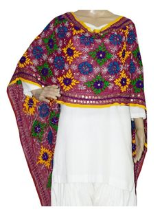 Georgette Stole Handembroidery Georgette Stole with Traditional Embroidery Work  Stole Length 2.25 Meter, Width 0.5 Meter  Wash Care Dry Clean Shop Now : http://www.jankiphulkari.com/rani-georgette-stole-jsg1103