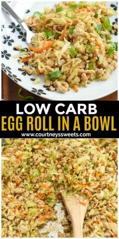 Frugal Food Items - How To Prepare Dinner And Luxuriate In Delightful Meals Without Having Shelling Out A Fortune Low Carb Egg Roll In A Bowl Recipe You Can Use Ground Chicken Or Even Ground Pork Chicken Egg Rolls, Pork Egg Rolls, Chicken Spring Rolls, Chicken Eggs, Healthy Chicken Recipes, Pork Recipes, Low Carb Recipes, Cooking Recipes, Recipes With Ground Chicken
