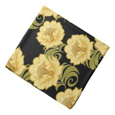 Abstract Yellow Flowers 1 - Bandana