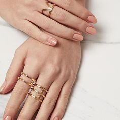 This ring party. Striking yet simple accessories. Consider them your new favourite everyday rings.
