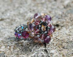 Medieval violet signet ring