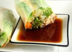 Fabulous chicken rice paper rolls will really break the ice