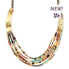 Pair our new Taos Necklace with a long flowy dress or #peasant top for the ultimate #summer look. Every detail counts.