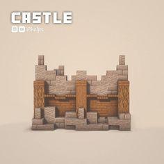 Plans Minecraft, Minecraft Wall, Minecraft Castle, Minecraft Medieval, Cute Minecraft Houses, Minecraft House Designs, Amazing Minecraft, Minecraft Tutorial, Minecraft Blueprints