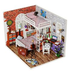 Architecture/diy House/mininatures Diy 3d Miniature Assemble Box Theater Creative Diary Building Dollhouse Kits With Funitures For Child Festival Handmade Gifts