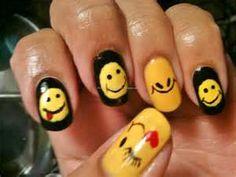 happy face nails | See more nail designs at http://www.nailsss.com/acrylic-nails-ideas/2/
