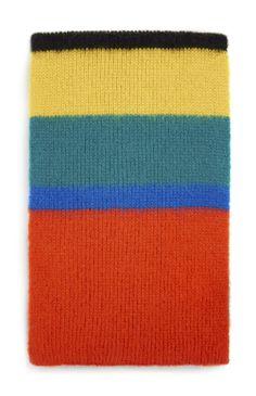 Primark - Bufanda de punto a rayas multicolores