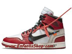 online retailer 454fa 0c08e Off-White Air Jordan 1 The Ten Chaussures Jordan Officiel Pas Cher Pour  Homme Rouge Blanc Noir