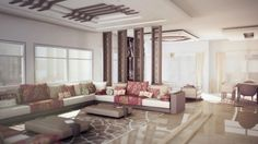 The floral patterns in this Moroccan space from designer Amine El Hammoumi give it a feminine bent.