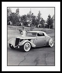 """Goldbrick"" Show Car, 1984 (Cosmo's ""ART"" Gallery) Tags: ford babe 1984 1933 customcar showcar goldbrick vision:text=0703 vision:outdoor=0937"