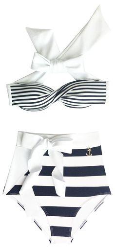 Biquini Hot Pant Laço Navy