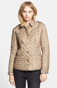 burberry brit patch pocket quilted coat nordstrom - Burberry Raincoat