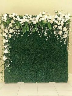 floral on escort card wall?