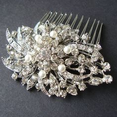 Victorian Style Bridal Hair Comb, Vintage Wedding Hairpiece, Bridal Hair Accessories, Wedding Hair Comb, JADA on Etsy, $52.00