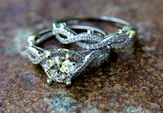 CUSTOM Made  Diamond Engagement Ring and Wedding by BeautifulPetra, $4,800.00