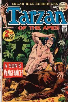 Tarzan of the Apes #208 (May 1972) 2nd DC issue. Joe Kubert.