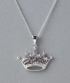 Sterling Silver Princess Crown Pendant Necklace from Disney & Hello Kitty