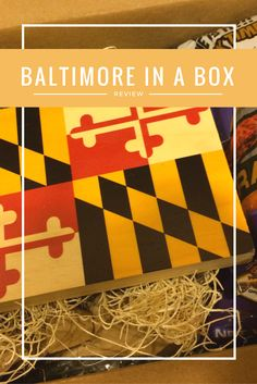 Baltimore in a Box. Great gift for Marylanders!
