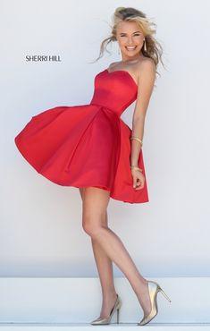 short Sherri Hill Red for 2016 50228