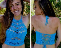 crochet crop top pattern Quantum por MermaidcatDesigns en Etsy                                                                                                                                                                                 Más