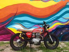 Rocker.co  Finders: 1975 Honda CB360 Scrambler #forsale #caferacer