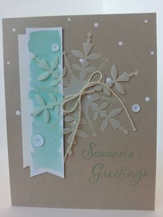 An alternate use for the Watercolor Winter Simply Created Card Kit.  Stampin' Up!