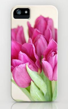 Magenta Tulips iPhone Case