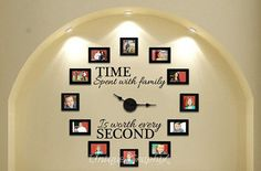 Time Spent With Family Worth Every Second Wall Clock Ideas