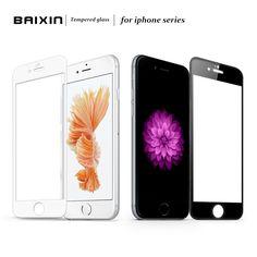 Piena copertura in vetro temperato protezione dello schermo per iphone 5 5 s se 6 6 s 7 vetro pellicola protettiva per iphone 6 plus 6 s plus 7 plus