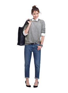 Baukjen The Boyfriend Jean in Blue | Trousers