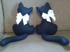 Mini almofadas de gatos