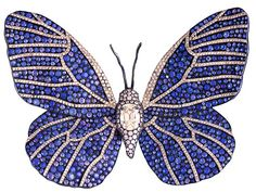 sapphire & gold butterfly