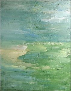 36 X 24 CUSTOM Acrylic Original Abstract Painting Impressionistic Art Textured Palette Knife  Painting. $550.00, via Etsy.