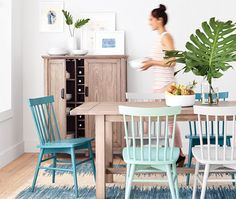 Mismatched Dining Room Chairs From Target Ad