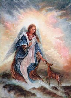 Angels by Sandra Kuck Hubby would love the baby deer in pick.