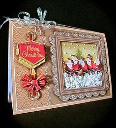 Card Gallery - A5 Triangular Base Card Mini Kit - Santa Dawn Chorus
