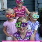 Easy Kids Craft: Goofy Foam Glasses