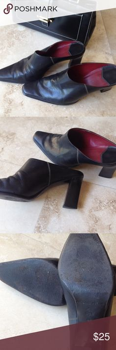 Antonio Melani Mules Black leather boots. Great condition ANTONIO MELANI Shoes Mules & Clogs